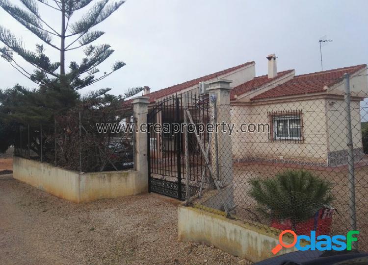 Se vende casa con parcela en el Valle del Sol (Murcia)