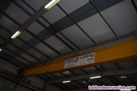 Se vende puente grúa de 6,3 tn