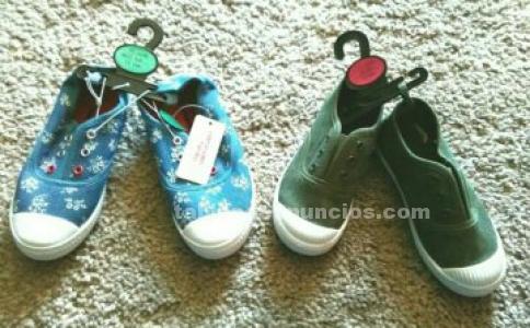 Vendo zapatillas de paño niña y niño