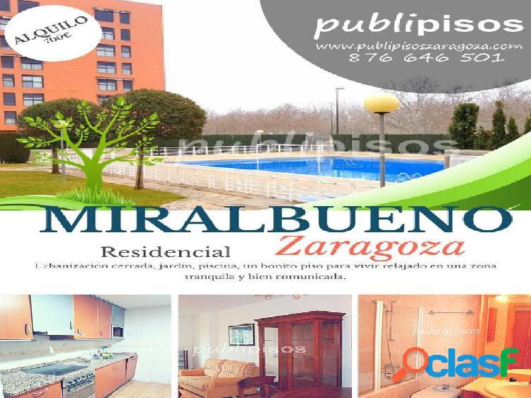 Alquiler piso nuevo en Miralbueno con piscina