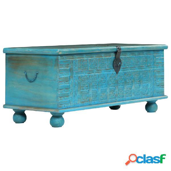 Baúl de almacenamiento madera maciza de mango azul