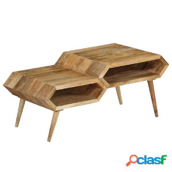 Mesa de centro madera maciza de mango maciza 104x50x45 cm