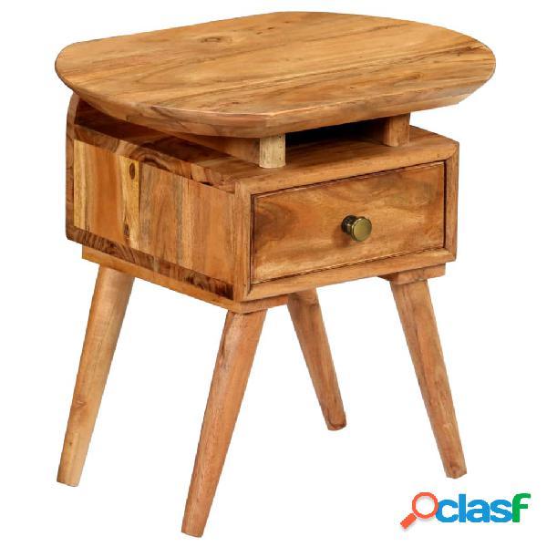 Mesita de noche de madera maciza de acacia 45x35x45 cm