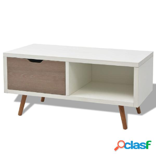Mueble de TV 90x35x43 cm blanco