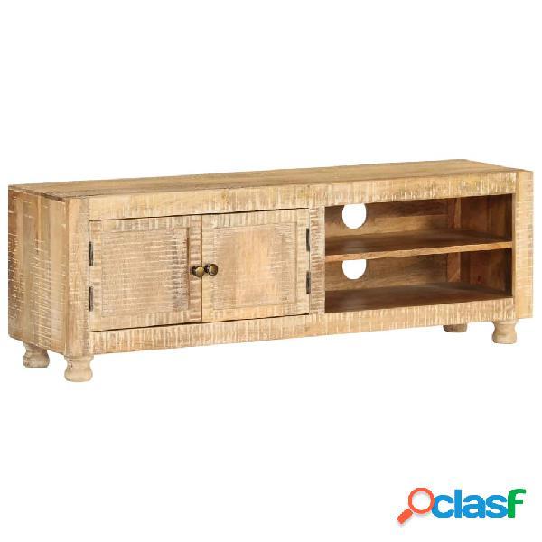 Mueble para la TV de madera de mango rugosa 118x30x40 cm
