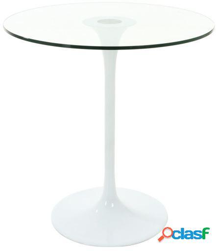 Wellindal Mesa Saarinen Glass 90 Blanco/Transparente