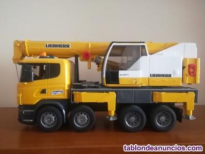 Camión liebherr con grúa (luz y sonido)
