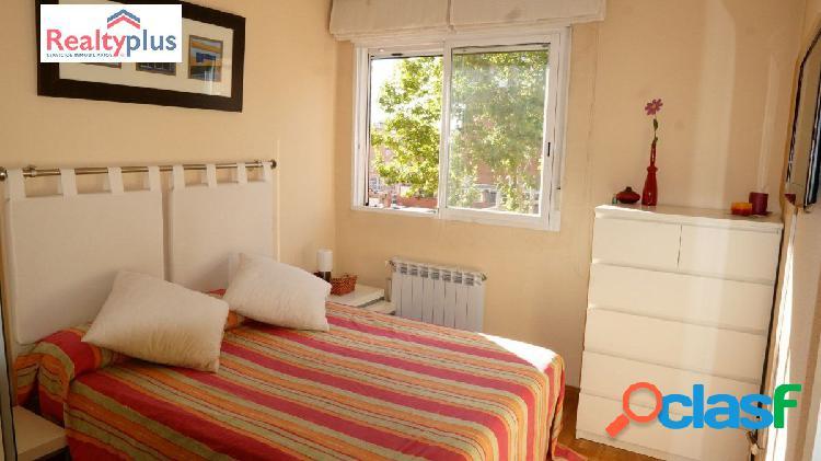 Dos dormitorios en el espacio de tres.Un piso amplio,una