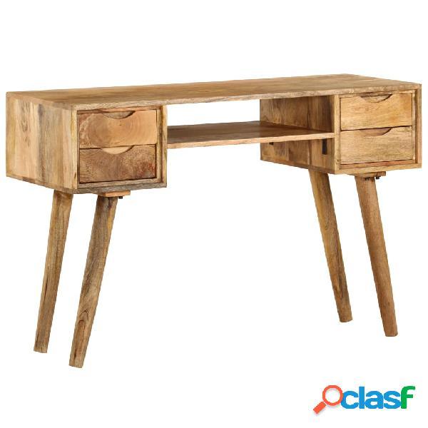 Escritorio de madera maciza de mango 115x47x76 cm