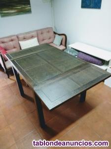 Mesa comedor extensible madera