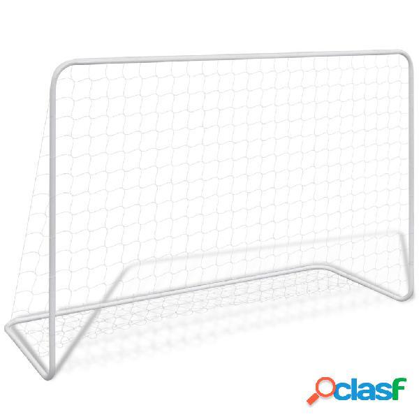 Portería de fútbol de acero, 182 x 61 x 122 cm