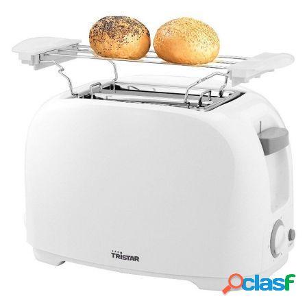 Tostador de pan tristar br-1013- 800w - 2 ranuras cortas - 6