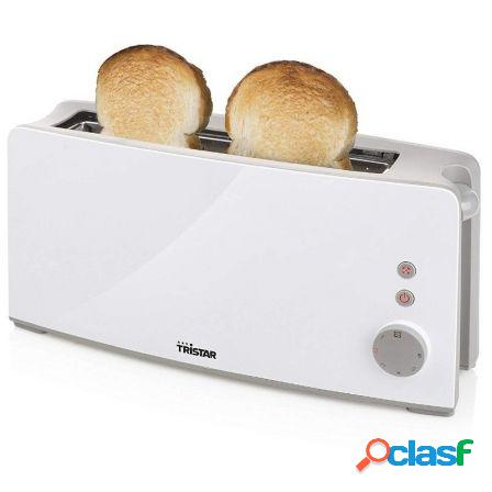 Tostador de pan tristar br-1024 - 1000w - ranura larga - 6