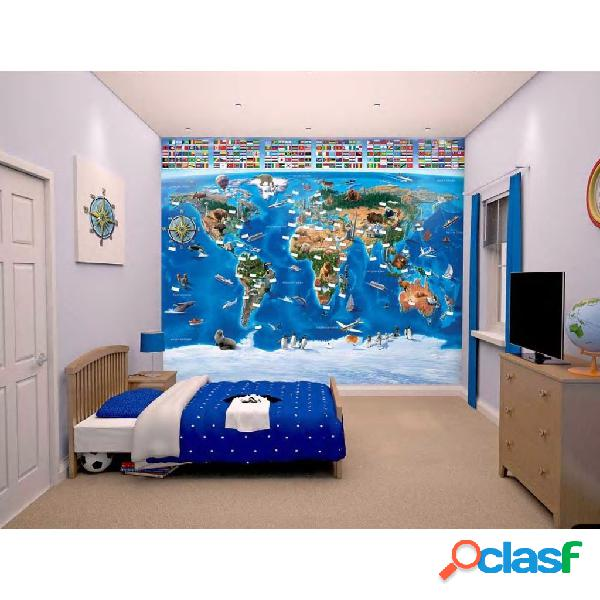 Walltastic Papel de pared fotográfico World Map 41851