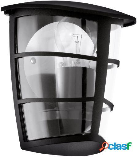 Wellindal Aplique de exterior 1 luz Negro Oria