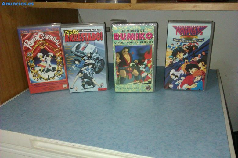 52 PelíCulas VHS Manga Perfecto Estado