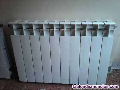 Vendo 4 radiadores de aluminio de segunda mano en