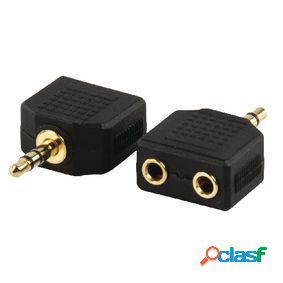 Adaptador de audio estéreo 3.5 mm macho - 2x 3.5 mm hembra