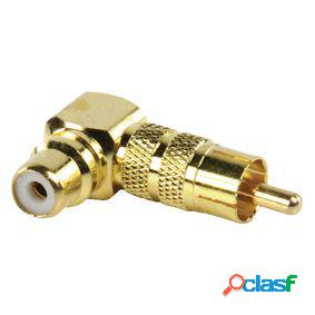 Adaptador de audio estéreo en Ángulo de 90° rca macho -
