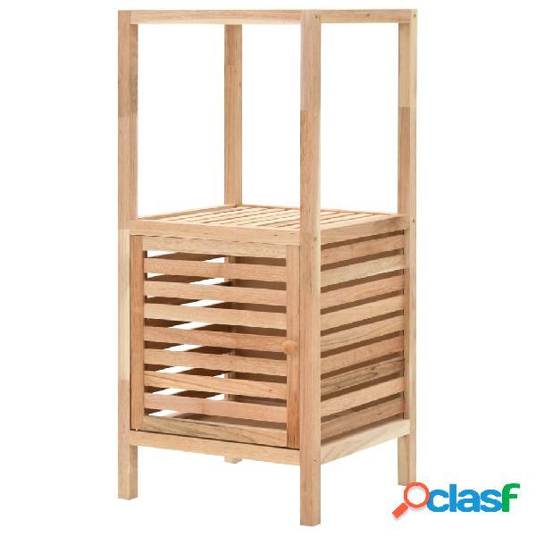 Armario de cuarto de baño madera maciza nogal 39,5x35,5x86