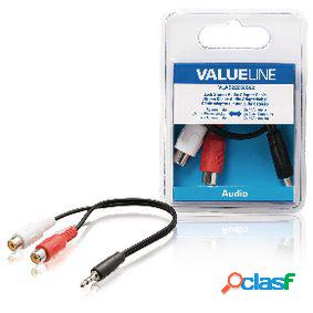 Cable adaptador de audio jack estéreo macho de 3.5 mm - 2