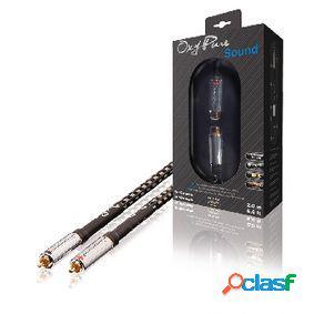 Cable de audio estéreo de gama alta 2x rca macho a 2x rca
