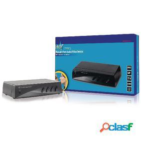 Conmutador audio/vídeo manual de 4 puertos
