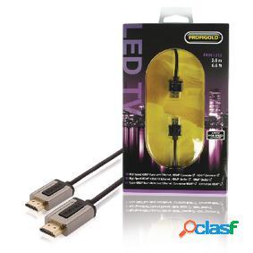 Hdmi de alta velocidad por cable con conector ethernet hdmi