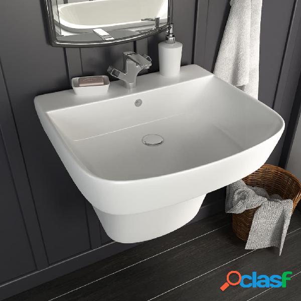 Lavabo de pared de cerámica blanco 500x450x410 mm