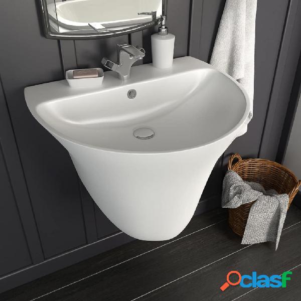 Lavabo de pared de cerámica blanco 560x480x420 mm