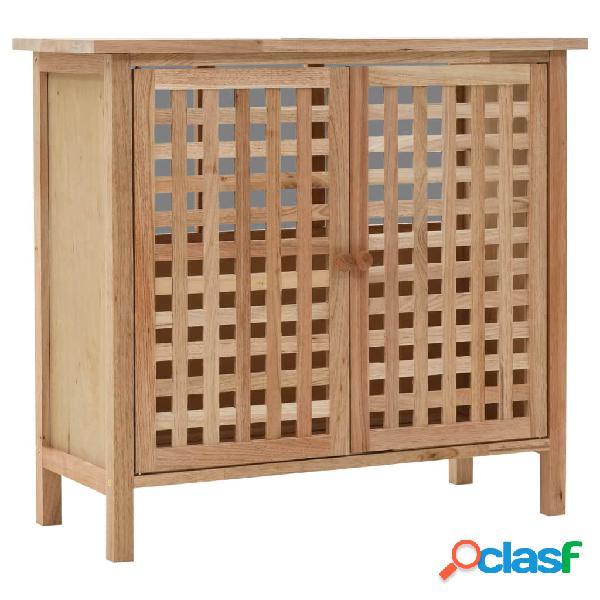 Mueble de lavabo madera maciza de nogal 66x29x61 cm
