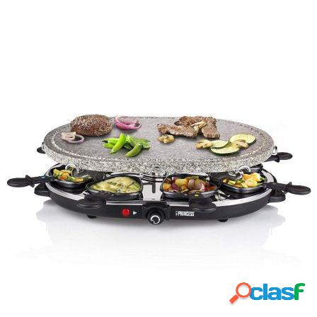 Raclette princess 162720 stone 8 oval stone grill party -