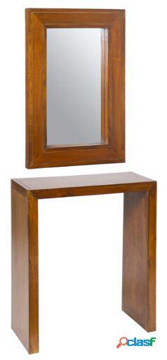 Wellindal Recibidor con espejo Forest