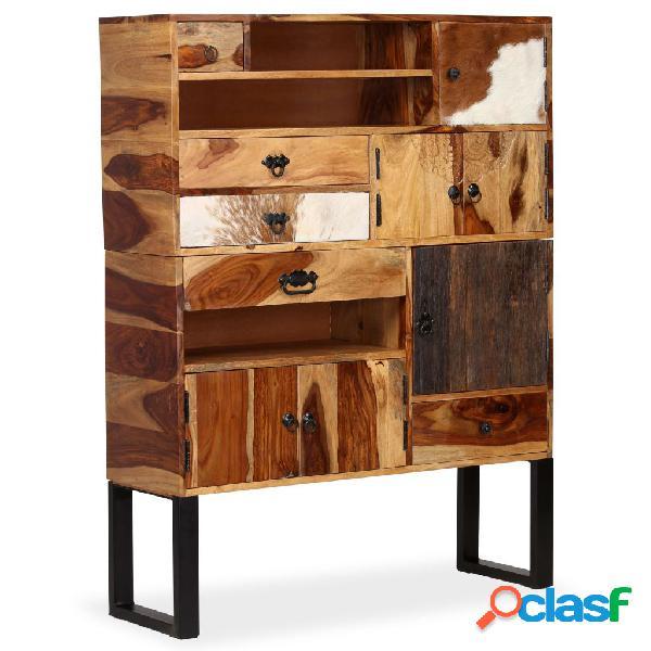 Aparador de madera maciza de sheesham 100x30x130 cm