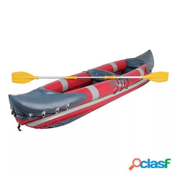 Bote kayak inflable con remos de aluminio