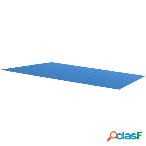 Cubierta rectangular de PE de piscina, azul, 732 x 366 cm