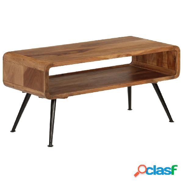 Mesa de centro de madera maciza sheesham 95x40x45 cm