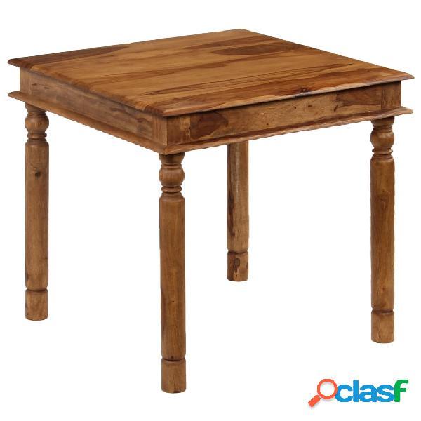 Mesa de comedor de madera de sheesham maciza 80x80x77 cm