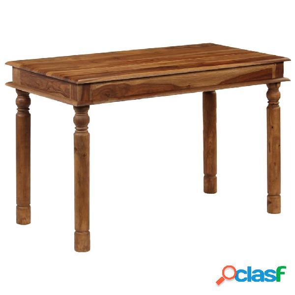 Mesa de comedor de madera maciza de sheesham 120x60x77 cm