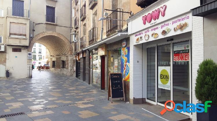 Alquiler local comercial junto a plaza nueva en Tudela