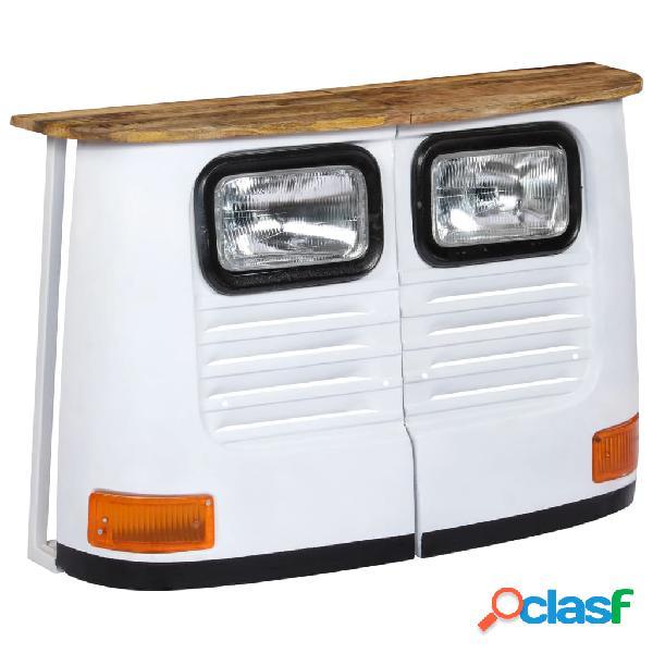 Aparador con forma de camión madera de mango maciza blanco