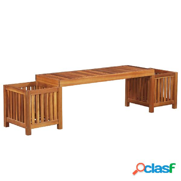 Jardinera banco de jardín madera maciza de acacia 180x40x44