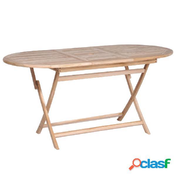 Mesa de comedor de teca maciza 160x80x75 cm