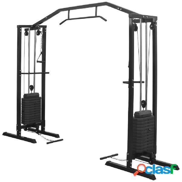 Máquina de poleas y cables de gimnasio 315 cm negro