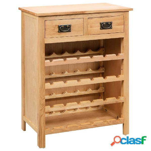 Mueble botellero de roble 72x32x90 cm