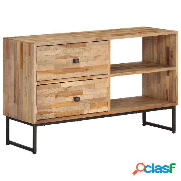 Mueble para TV de madera de teca reciclada 90x30x55 cm