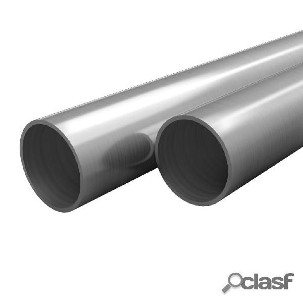 Tubos de acero inoxidable redondos 2 unidades V2A 2 m 20 mm