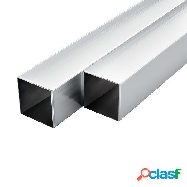 Tubos de aluminio cuadrados 6 unidades 2 m 30 mm