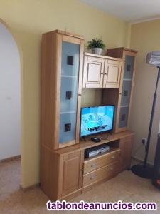 Vendo mesa, sofás y armario salón