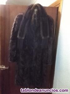 Vendo elegante abrigo de visón con bufanda!